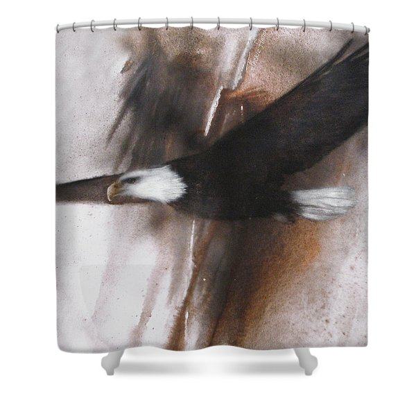 Bald Eagle Flight Shower Curtain