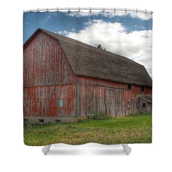 0003 - Baldwin Road Red I Shower Curtain