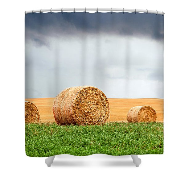 Bales And Layers Shower Curtain