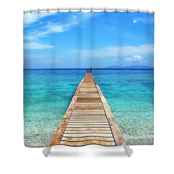 Bali Beach Indonesia Shower Curtain