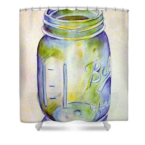 Ball Mason Jar Shower Curtain