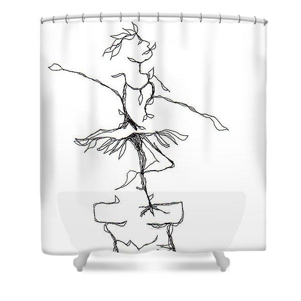 Ballerina- Cracked Pot Shower Curtain