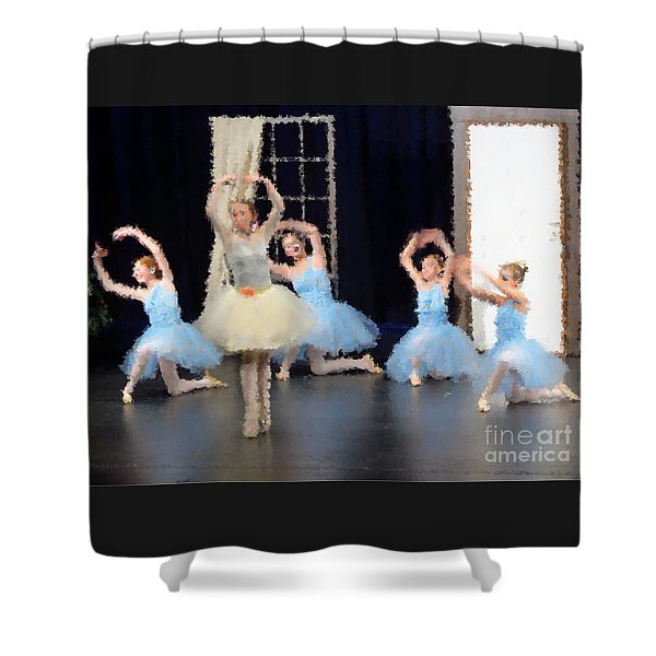 Ballerinas Dancing Shower Curtain