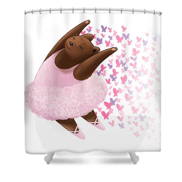 Ballet Bear Shower Curtain