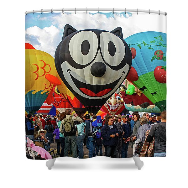 Balloon Fiesta Albuquerque II Shower Curtain