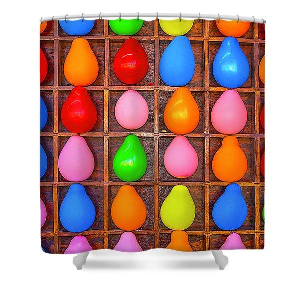 Balloon Game Shower Curtain