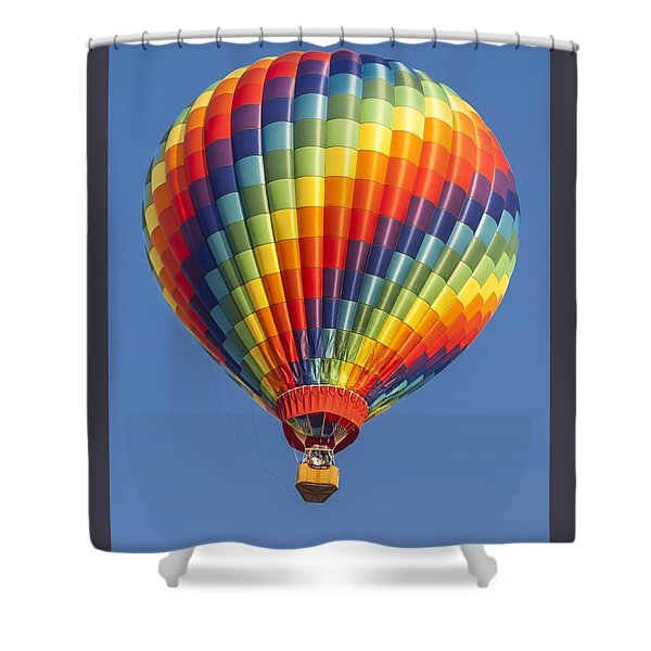 Ballooning In Color Shower Curtain
