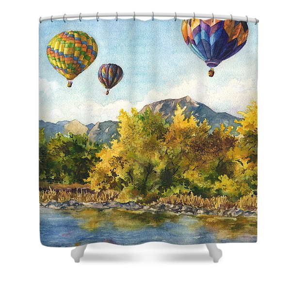 Balloons At Twin Lakes Shower Curtain