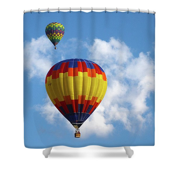 Balloons In The Cloud Shower Curtain