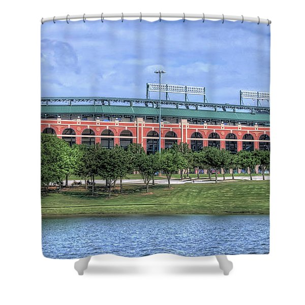 Ballpark In Arlington Now Globe Life Park Shower Curtain