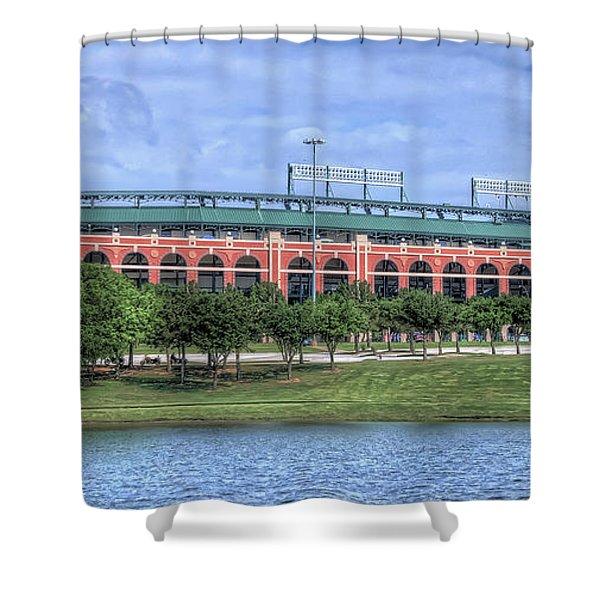 Ballpark In Arlington Now Globe Life Park Shower Curtain