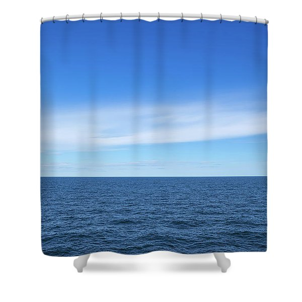 Baltic Sea And Blue Sky Shower Curtain