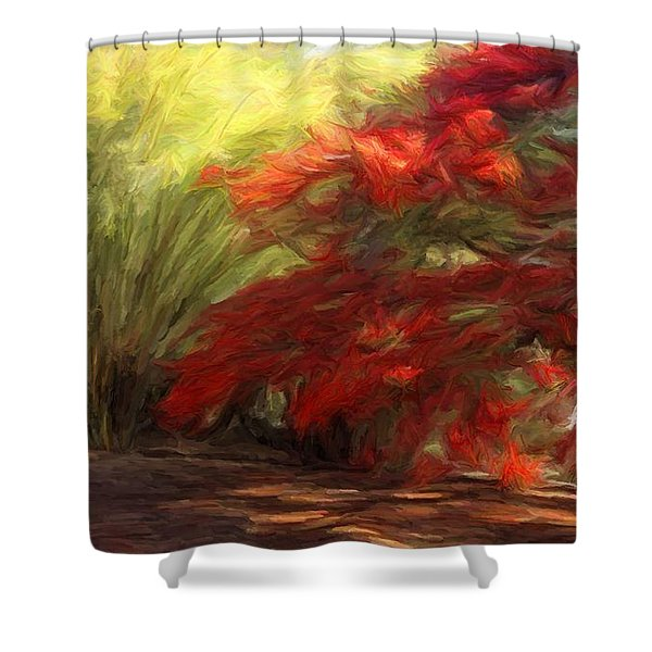Bamboo And The Flamboyant Shower Curtain