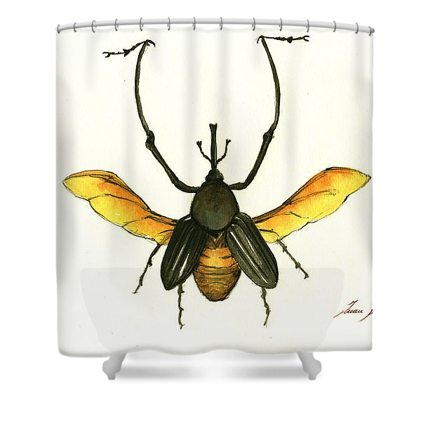 Bamboo Beetle Shower Curtain