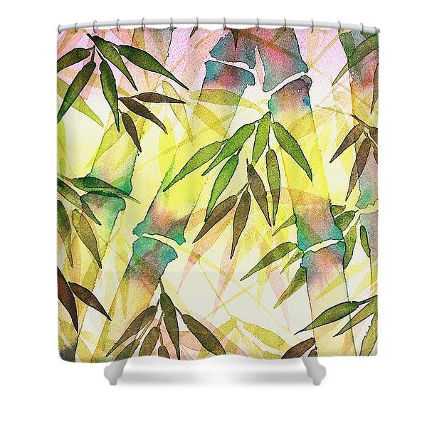 Bamboo Sunrise Shower Curtain