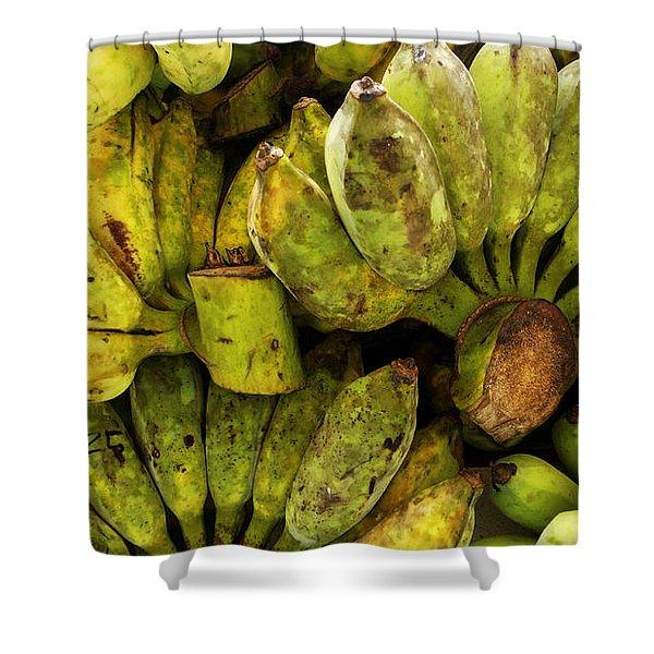 Bananas At Market Shower Curtain