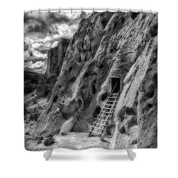 Bandelier Cavate Shower Curtain