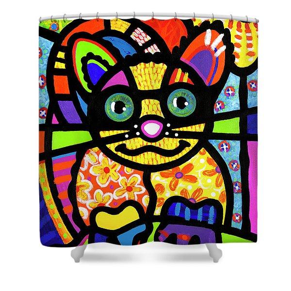 Bandit The Lemur Cat Shower Curtain