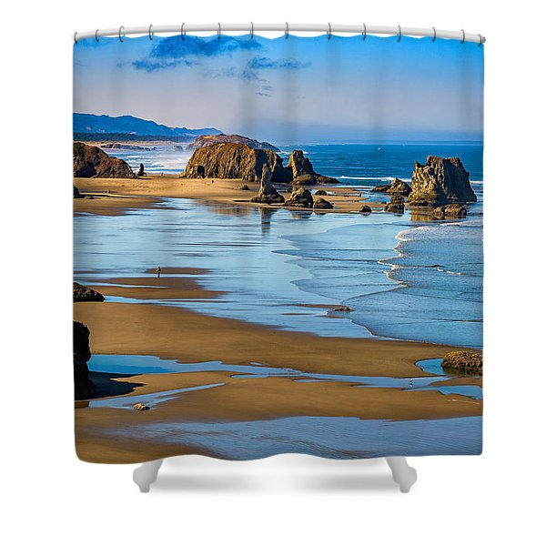 Bandon Beach Shower Curtain