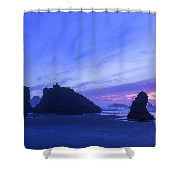 Bandon Blue Hour Shower Curtain