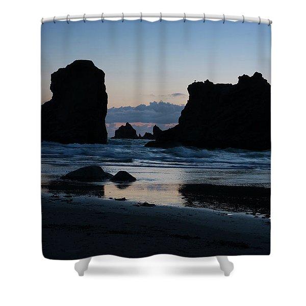 Bandon Oregon Sea Stacks Shower Curtain