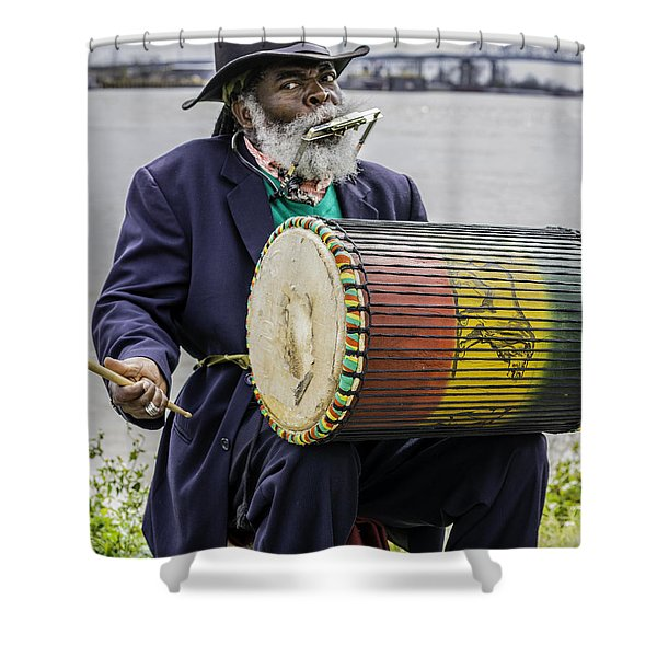 Bang That Drum Shower Curtain