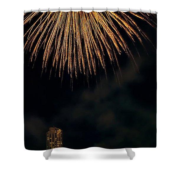 Bangkok Fireworks Shower Curtain