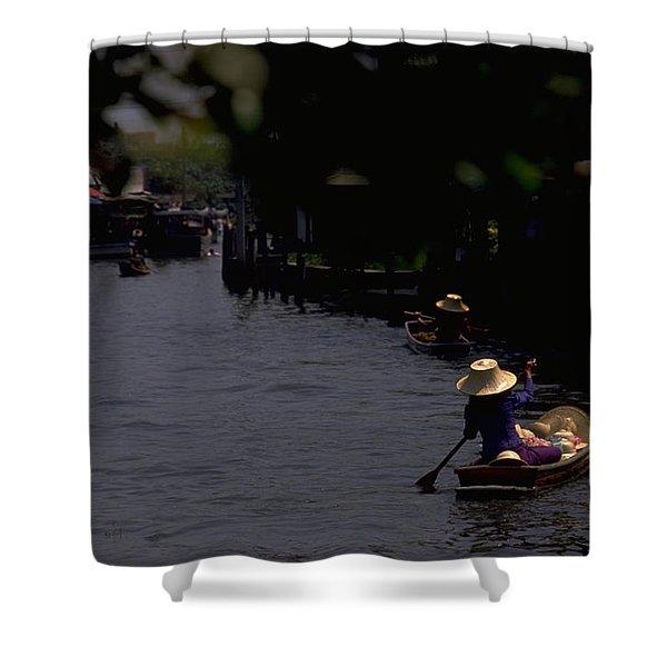 Bangkok Floating Market Shower Curtain