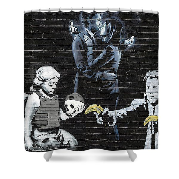 Banksy - Failure To Communicate Shower Curtain