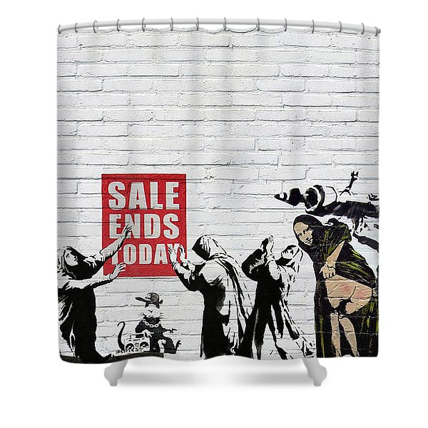 Banksy - Saints And Sinners   Shower Curtain