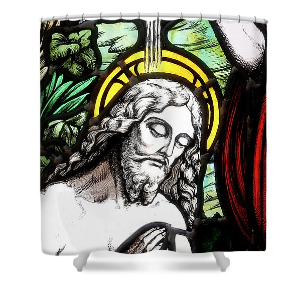 Baptism Of Jesus, Stained-glass Window Shower Curtain