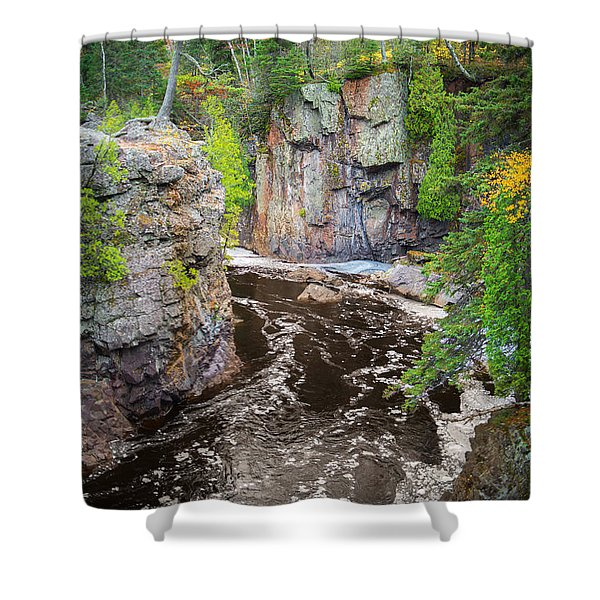 Baptism River In Tettegouche State Park Mn Shower Curtain