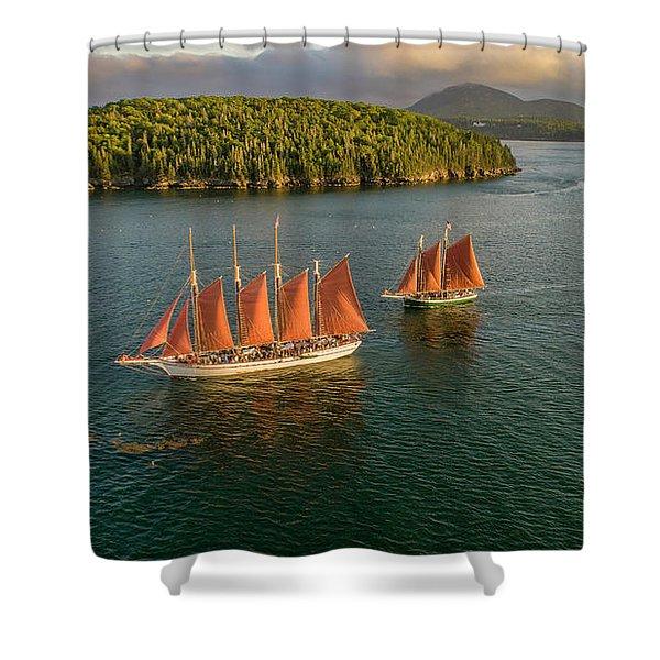 Sailing Thru Life The Downeast Way Shower Curtain
