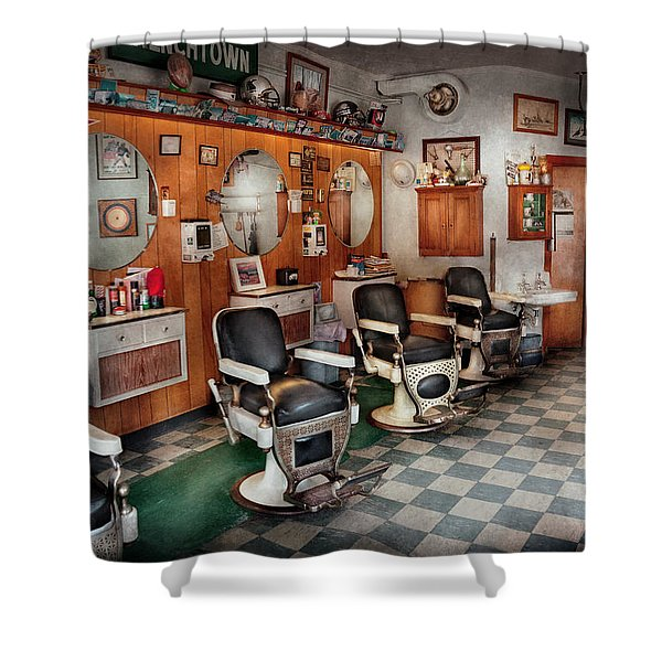 Barber - Frenchtown Barbers  Shower Curtain