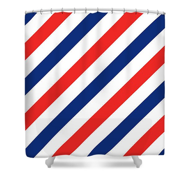Barber Stripes Shower Curtain
