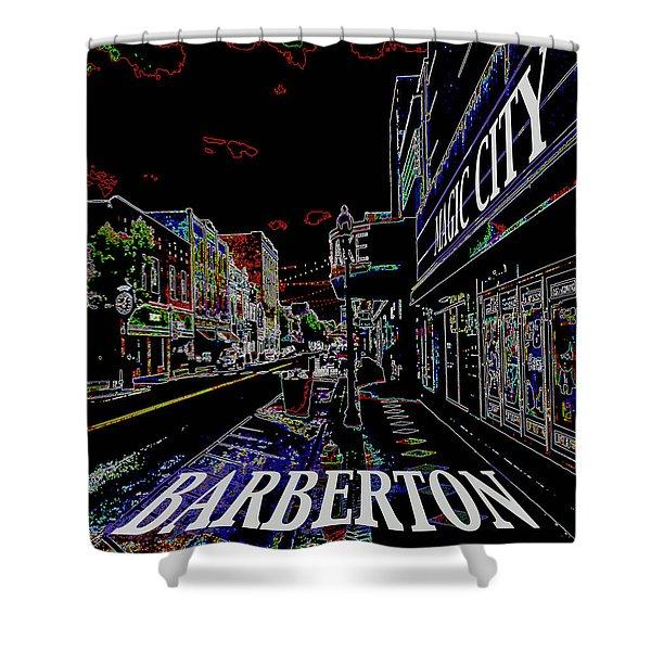 Barberton The Magic City Shower Curtain