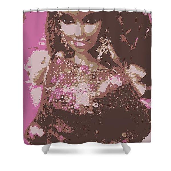 Barbie Sparkle Shower Curtain