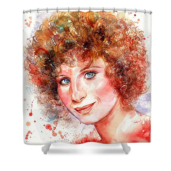 Barbra Streisand Portrait Shower Curtain