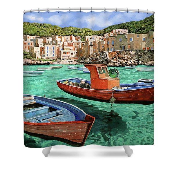 Barche Rosse E Blu Shower Curtain