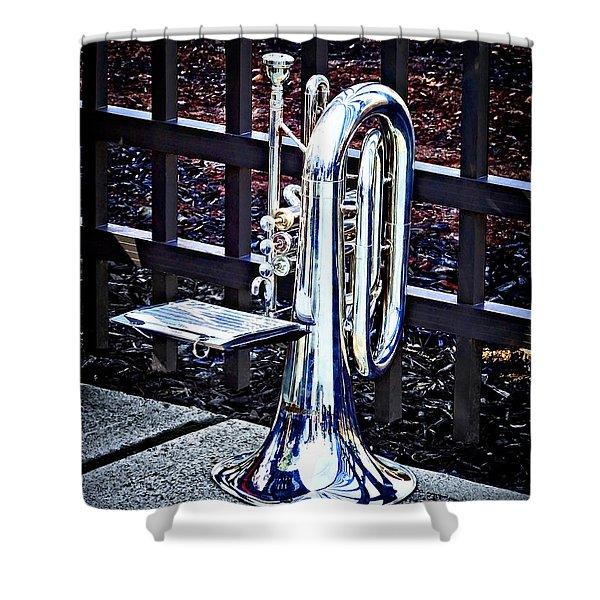 Baritone Horn Before Parade Shower Curtain