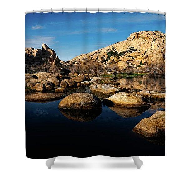 Barker Dam Lake Shower Curtain