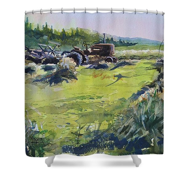 Barley Harvest Shower Curtain