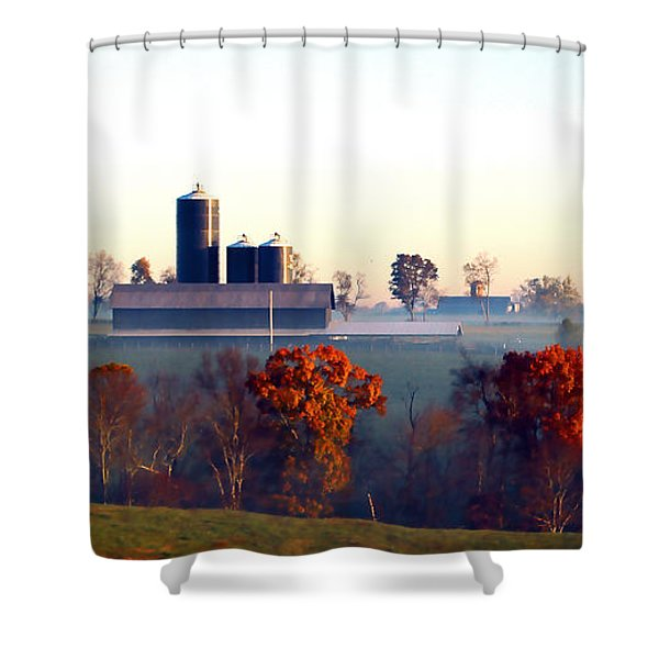 Barn And Silo 3 Shower Curtain