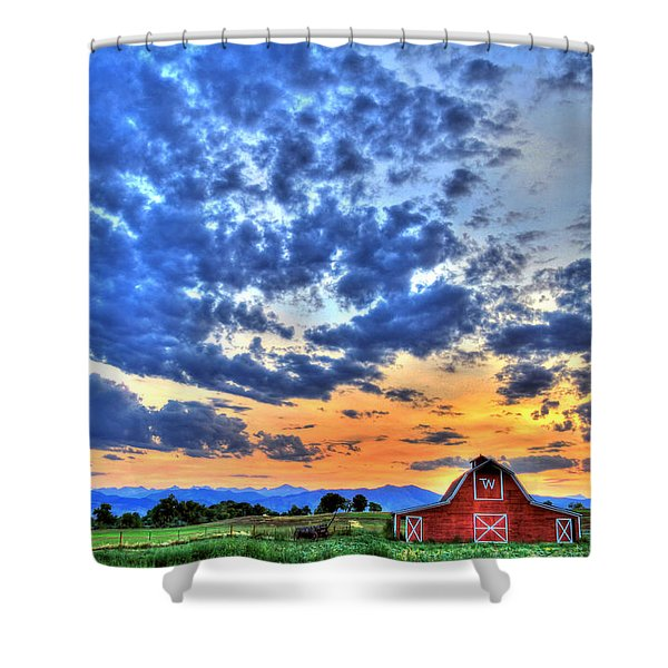 Barn And Sky Shower Curtain
