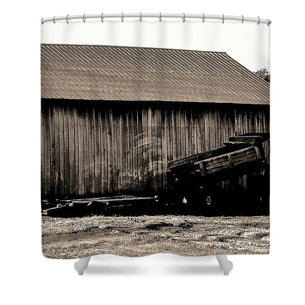 Barn And Truck Shower Curtain