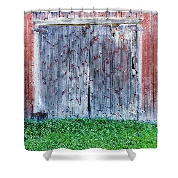 Barn Door Shower Curtain
