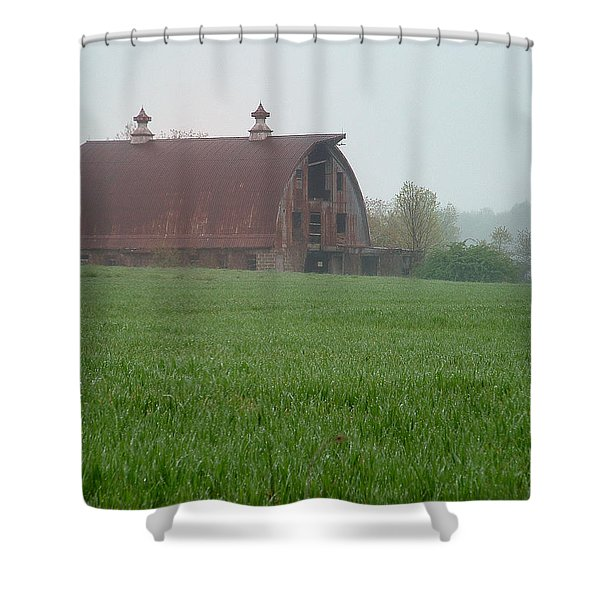 Barn In Summer Shower Curtain