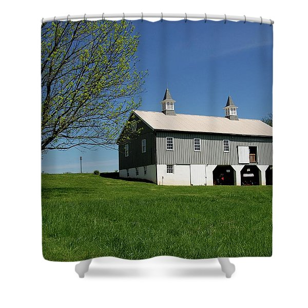 Barn In The Country - Bayonet Farm Shower Curtain