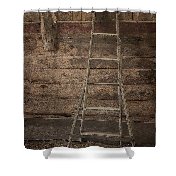 Barn Ladder Shower Curtain