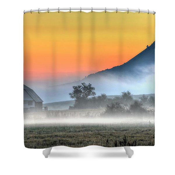 Barn Of Brigadoon Shower Curtain